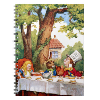 The Mad Hatter's Tea Party in Wonderland Notebook