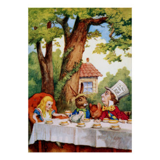 The Mad Hatter's Tea Party in Wonderland Posters