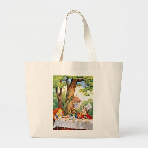 THE MAD HATTER'S TEA PARTY JUMBO TOTE BAG