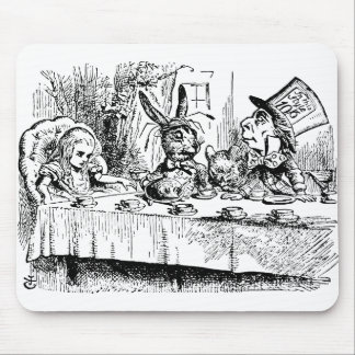 The Mad Hatter's Tea Party Mouse Pad