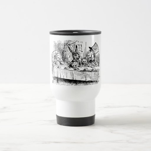 The Mad Hatter's Tea Party 15 Oz Stainless Steel Travel Mug