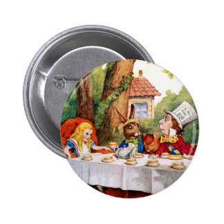 THE MAD HATTER'S TEA PARTY PINBACK BUTTON