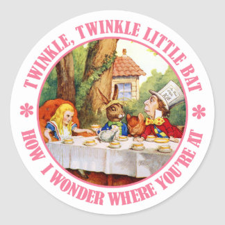 The Mad Hatter's Tea Party Recital Classic Round Sticker