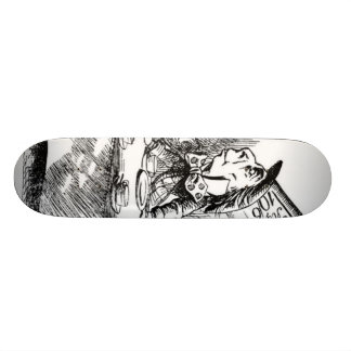 The Mad Hatter's Tea Party Skateboard Deck