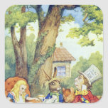 The Mad Hatter's Tea Party Square Sticker
