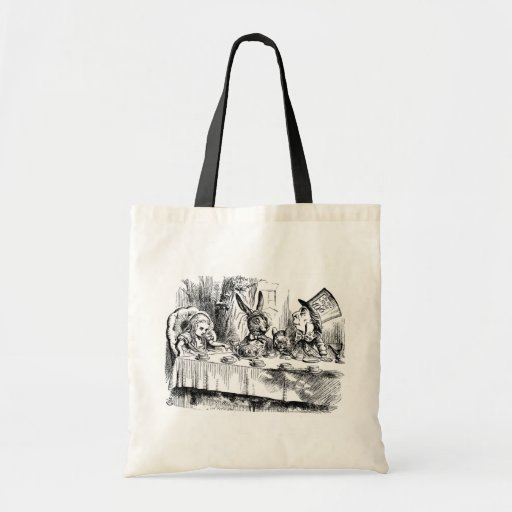The Mad Hatter's Tea Party Tote Bags