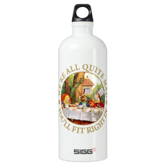 "The Mad Hatter's Tea Party - ""We're All Quite Mad"" Aluminum Water Bottle"