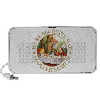 """The Mad Hatter's Tea Party - """"We're All Quite Mad"""" Notebook Speaker"""
