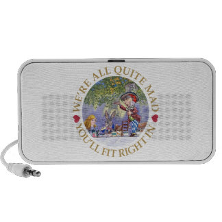 """The Mad Hatter's Tea Party - """"We're all Quite Mad"""" iPhone Speakers"""