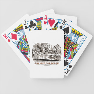 The Mad Tea Party (Alice Mad Hatter Lewis Carroll) Bicycle Playing Cards