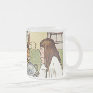 The Mad Tea Party Frosted Glass Coffee Mug