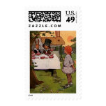The Mad Tea Party Postage Stamps