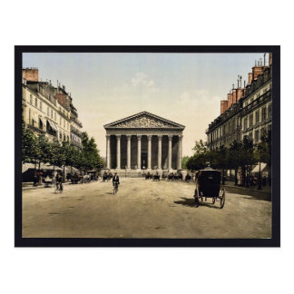 The Madeleine, and rue Royale, Paris, France vinta Postcard