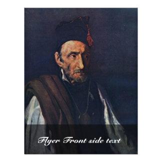 "The Madman By Géricault Jean Louis Théodore (Best 8.5"" X 11"" Flyer"