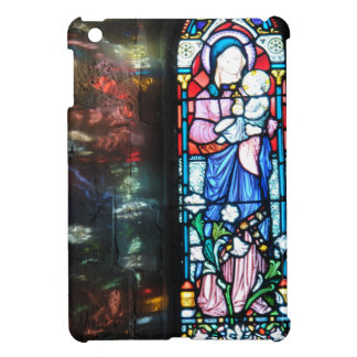 The Madonna and Baby Jesus, stained glass painting iPad Mini Cover