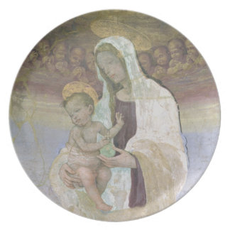 The Madonna and Child, a detail from the tabernacl Dinner Plate