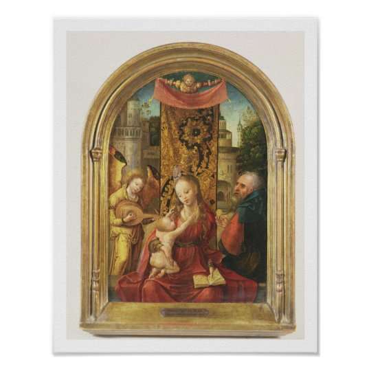 The Madonna and Child Enthroned Poster