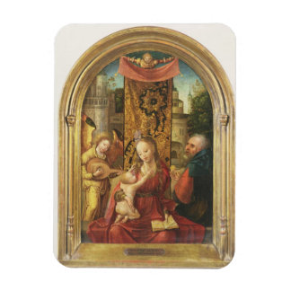 The Madonna and Child Enthroned Rectangular Magnets