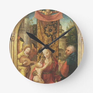The Madonna and Child Enthroned Round Clock