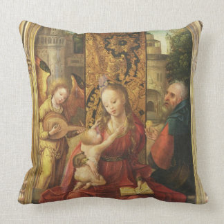 The Madonna and Child Enthroned Throw Pillow