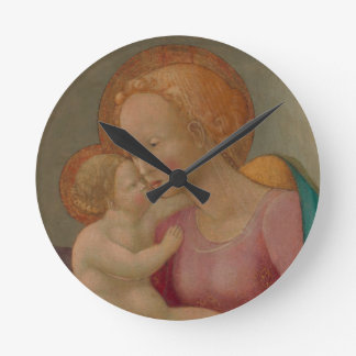 The Madonna and Child Round Clock