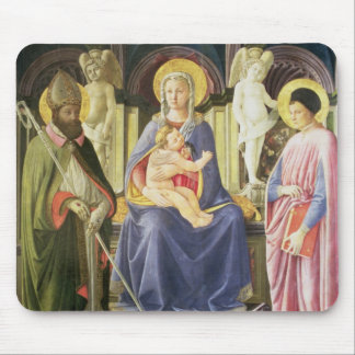 The Madonna and Child with SS. Clement and Justin, Mouse Pad