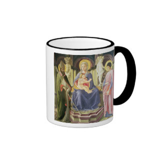 The Madonna and Child with SS. Clement and Justin, Ringer Coffee Mug