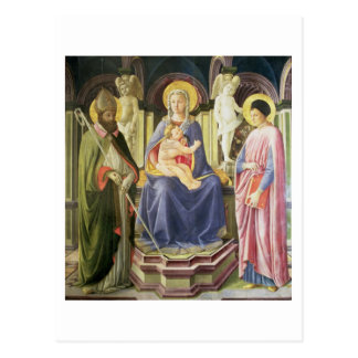 The Madonna and Child with SS. Clement and Justin, Postcard