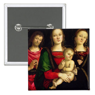 The Madonna and Child with St. John the Baptist an Pinback Button