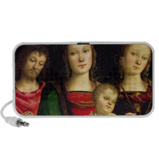 The Madonna and Child with St. John the Baptist an Notebook Speakers