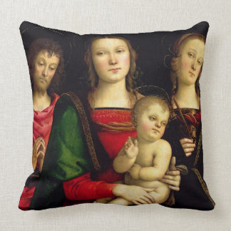 The Madonna and Child with St. John the Baptist an Throw Pillows