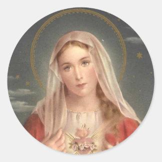 The Madonna Classic Round Sticker