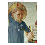 The Madonna delle Ombre, detail of St. Dominic Greeting Cards