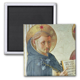 The Madonna delle Ombre, detail of St. Dominic Magnet