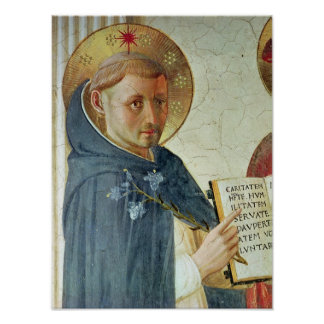 The Madonna delle Ombre, detail of St. Dominic Print