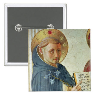 The Madonna delle Ombre, detail of St. Dominic Pinback Button