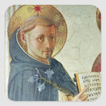 The Madonna delle Ombre, detail of St. Dominic Square Stickers