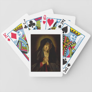 The Madonna in Sorrow (oil on canvas) Bicycle Playing Cards