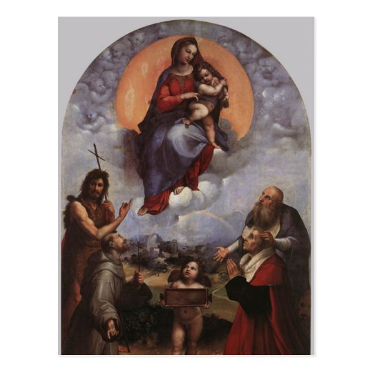 The Madonna of Foligno postcard