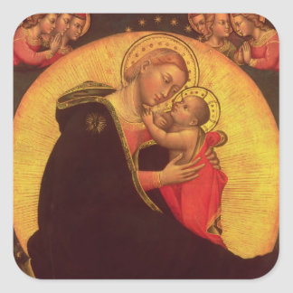 The Madonna of Humility, 1390-1400 Square Sticker