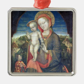 The Madonna of Humility adored by Leonello d'Este Metal Ornament