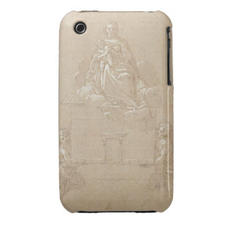 The Madonna of Loreto (pen and ink) Case-Mate iPhone 3 Cases