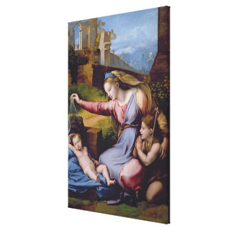 The Madonna of the Blue Diadem or The Madonna of t Canvas Print