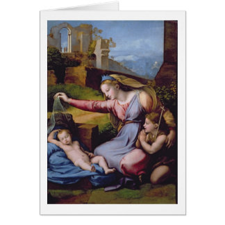 The Madonna of the Blue Diadem or The Madonna of t Card