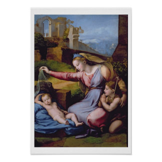 The Madonna of the Blue Diadem or The Madonna of t Poster