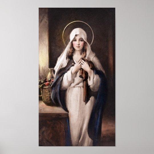 The Madonna Of The Sacred Coat Print Chambers Zazzle