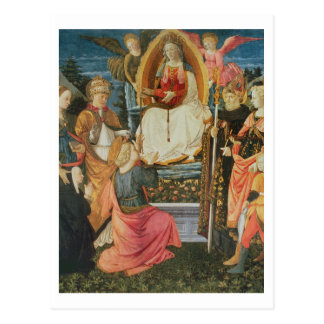 The Madonna of the Sacred Girdle, 1456 (tempera on Postcard
