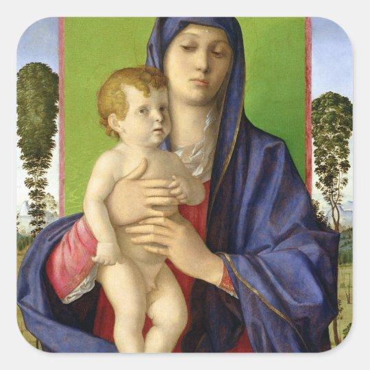 The Madonna of the Trees (Madonna degli Alberetti) Square Sticker