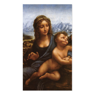 The Madonna of the Yarnwinder circa 1501. Business Card Template