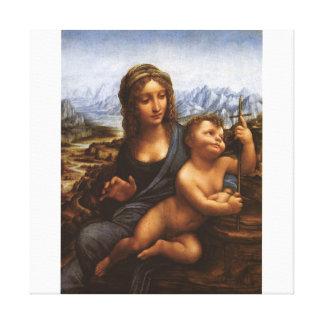 The Madonna of the Yarnwinder circa 1501 Canvas Print